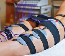 Beauty center electrostimulation therapy